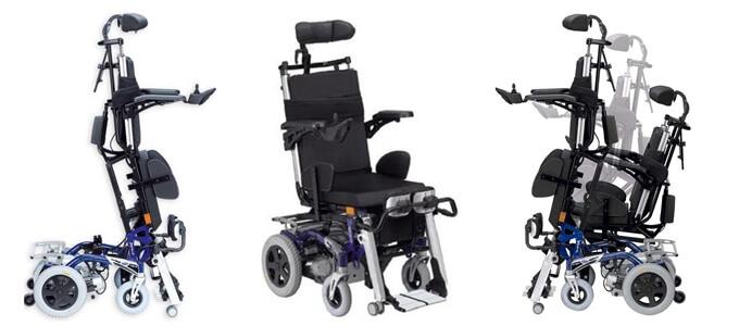 İnvacare Dragon Vertic Ayağa Kaldıran Akülü Sandalye
